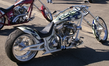 Custom V-Twin Motorcycle